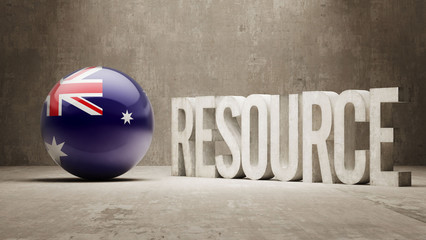 Australia. Resource Concept.