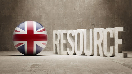 United Kingdom. Resource Concept.