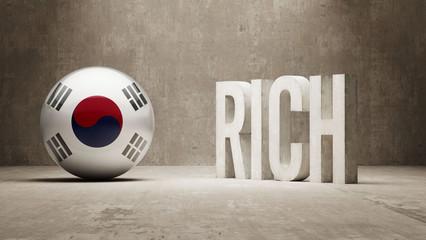 South Korea. Rich Concept.