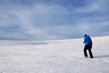 Alpine winter trekking