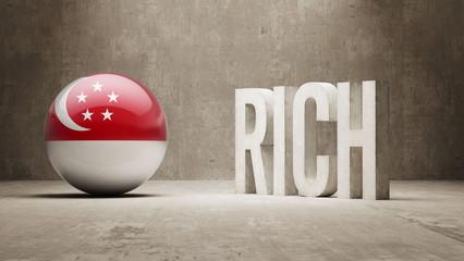Singapore Rich Concept.