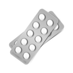 Vector Pack of Pills Isolated on White Background