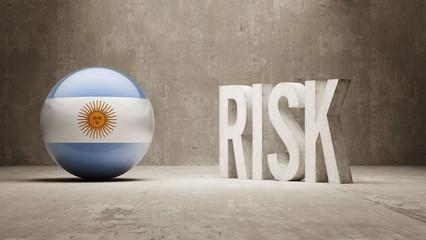 Argentina. Risk Concept.