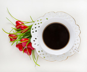 cup of coffee, valentine