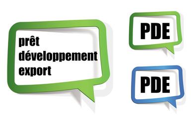 PDE - prêt développement export
