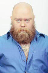 Creative and funny bearded man
