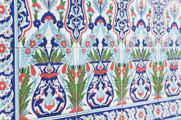 Tiles with eastern pattern