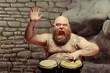 Obrazy na płótnie, fototapety, zdjęcia, fotoobrazy drukowane : Playing drums and loving it