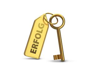 Schlüssel zum Erfolg Gold