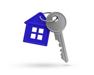Haus Schlüssel blau