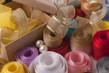 Box and ribbons