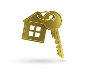 Haus Schlüssel gold
