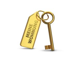 Wohnungsschlüssel Gold