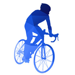 Abstract blue vector cycling racer