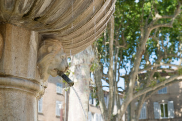 Old Roman fountain