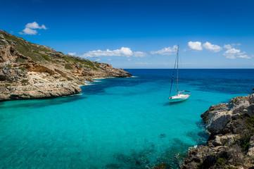 Yacht in dream bay