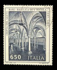 "Italy postage stamp: ""Basilica di San Nicola"" in Bari"
