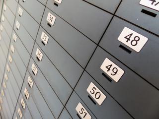 Schließfächer in einer Bank