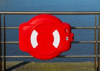 Lifebuoy on the pier.