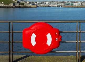 Lifebuoy on the pier.