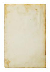 Old photo isolated on white