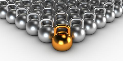 Gym weight kettle bells
