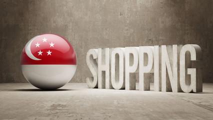 Singapore Shopping Concept.
