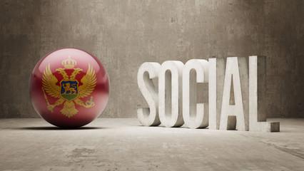 Montenegro. Social Concept.