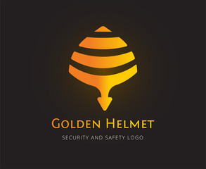 Abstract helmet vector logo template for branding and design