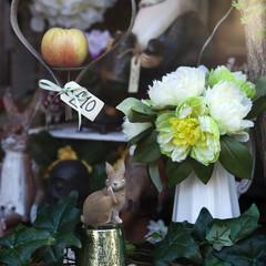 dahlia of artificial flowers and toys . London flea-market