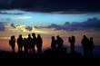 canvas print picture - escursione al tramonto