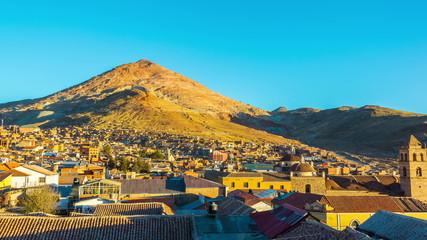 Sunset over Potosi, Bolivia
