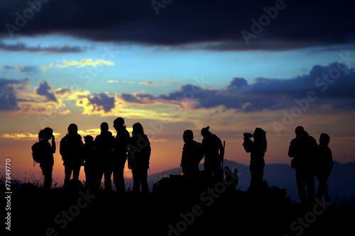 Aluminium Alpinisme escursione al tramonto