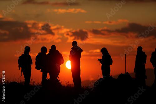 Leinwandbild Motiv escursione al tramonto