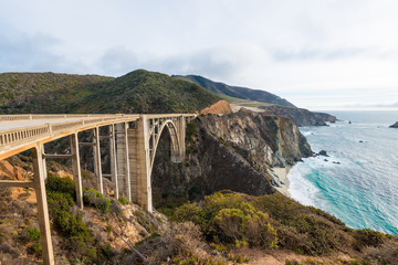 The Historic Bixby Bridge.  Pacific Coast Highway California