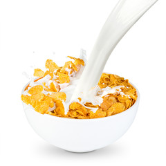 corn flakes milk splash