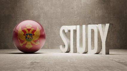 Montenegro. Study Concept.