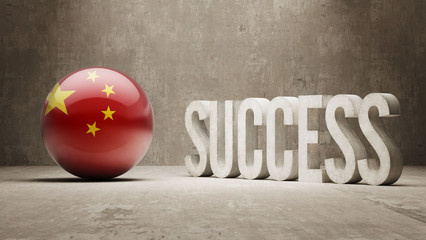 China. Success Concept.