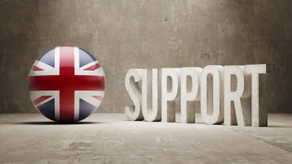 United Kingdom. Support Concept.