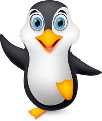 Happy penguin cartoon