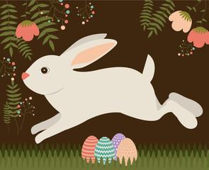 Happy easter card design, vector illustration.