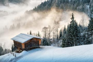 Winter Hütte