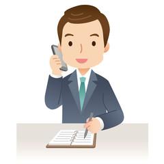 電話する男性 ビジネスマン