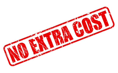 No extra cost red stamp text