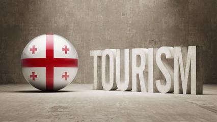 Georgia Tourism Concept.