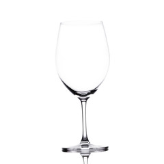 Empty glass of wine standing isolated on the white background