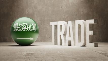 Saudi Arabia. Trade Concept.