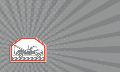 Business card Tow Wrecker Truck Side Retro