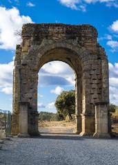 Roman Arch of Caparra in Extremadura, Spain