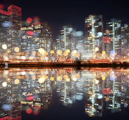 View of city night